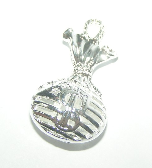 Silver Bogo Free Money Bag Free Shipping Necklace