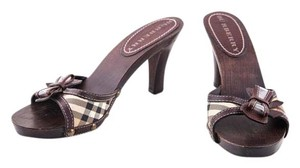 Burberry Wood Sig Pattern Bow multicolor Sandals