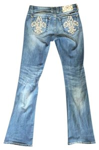 Miss Me Studded Boot Cut Jeans-Light Wash