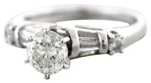 Other Vintage 18k White Gold 1.28ct G-H EGL Diamond Engagement Ring Size 5.75