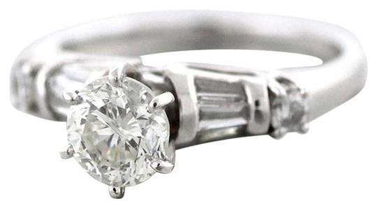 Other Vintage 18k White Gold 1.28ct G-H EGL Diamond Engagement Ring Size 5.75 Image 0