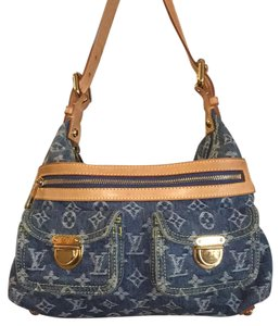 Louis Vuitton Speedy Satchel in Blue Denim