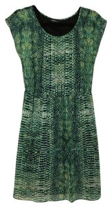 AGB short dress Green Blue Snakeskin on Tradesy