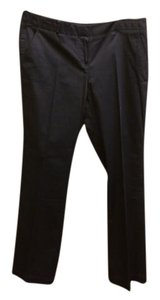 "Brooks Brothers 8 3.0"" Front Zipper Slash Front Pockets Boot Cut Pants Navy Blue"
