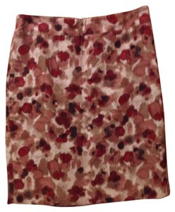 Ann Taylor Skirt Burgundy, light brown, dark brown, cream