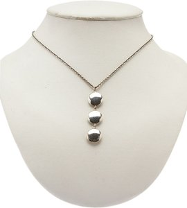 Tiffany & Co. Tiffany & Co Women's Sterling Silver (925) Tear Drop Pendant Necklace (25930)