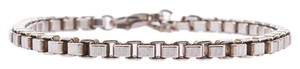 Tiffany & C o. Tiffany & Co Women's Sterling Silver (925) Box Link Bracelet, 6.5 (25021)