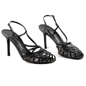 Gunmetal Leather Comfortable Sandals Black Pumps