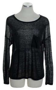 Vince Long Sleeve Sheer Boxy Sweater
