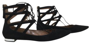 Aquazzura Black Flats