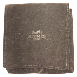 Hermès Hermes Brown Suede jewelry pouch