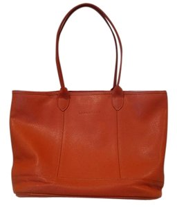 Longchamp Leather Tote in Burnt Sienna