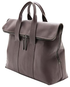 3.1 Phillip Lim 31 Hour Leather Tote in Smoke