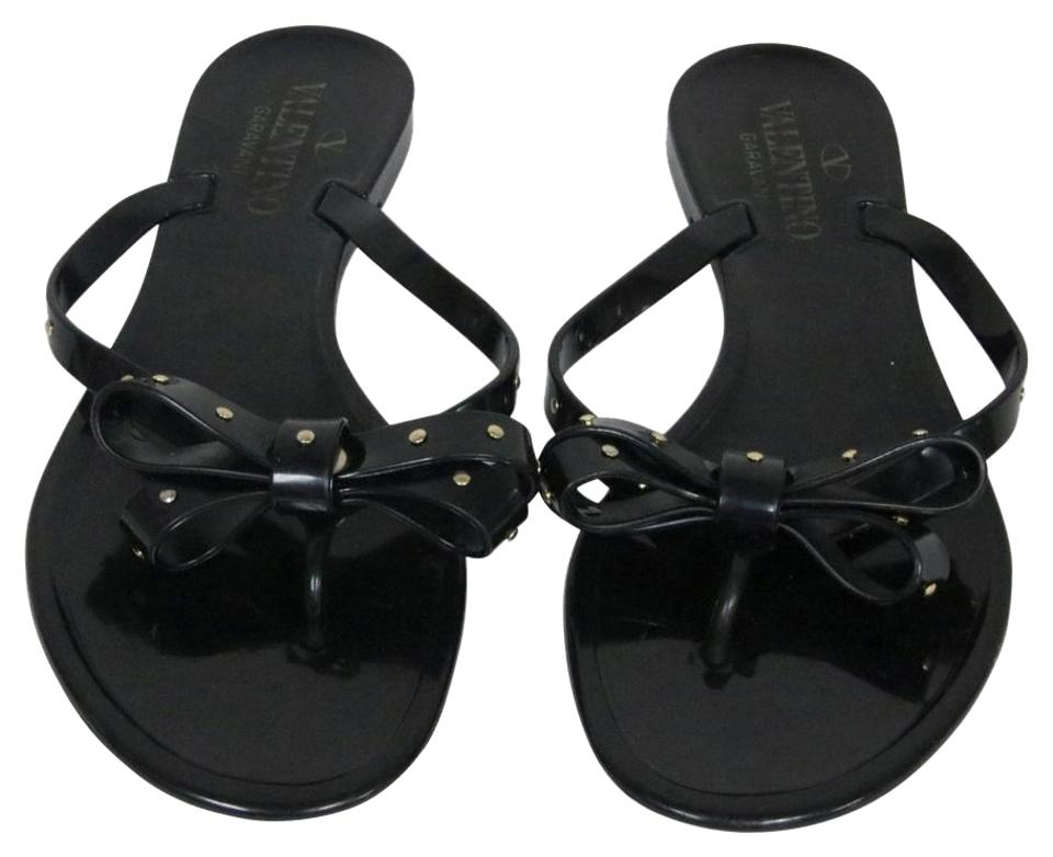 e31bcf634 Valentino Black Limited Edition Rockstud Jelly 36 Sandals. Size  US 6 ...