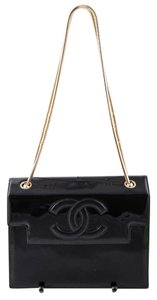 Chanel Vintage Leather/patent Shoulder Bag