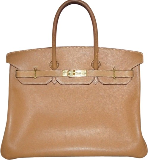 Hermès Birkin 35 Gold Courchevel Tote in Beige/ Light Brown