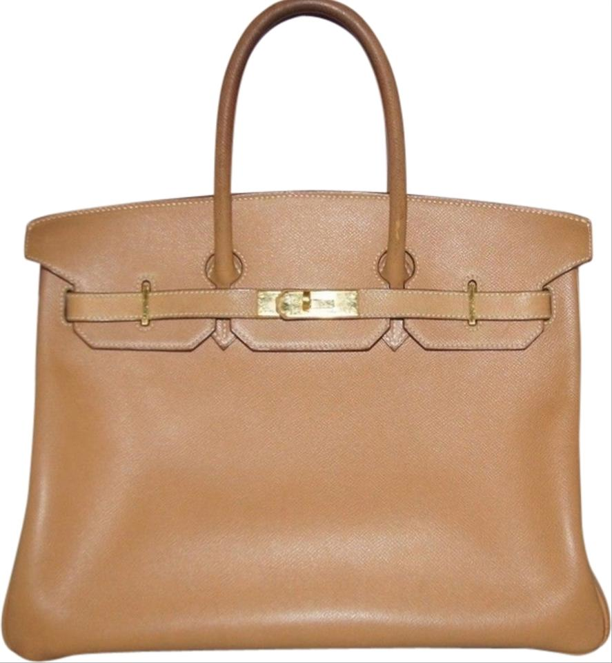 40718d9b5f5 Hermès Birkin 35 Tan Ghw Beige  Gold Courchevel Leather Tote - Tradesy