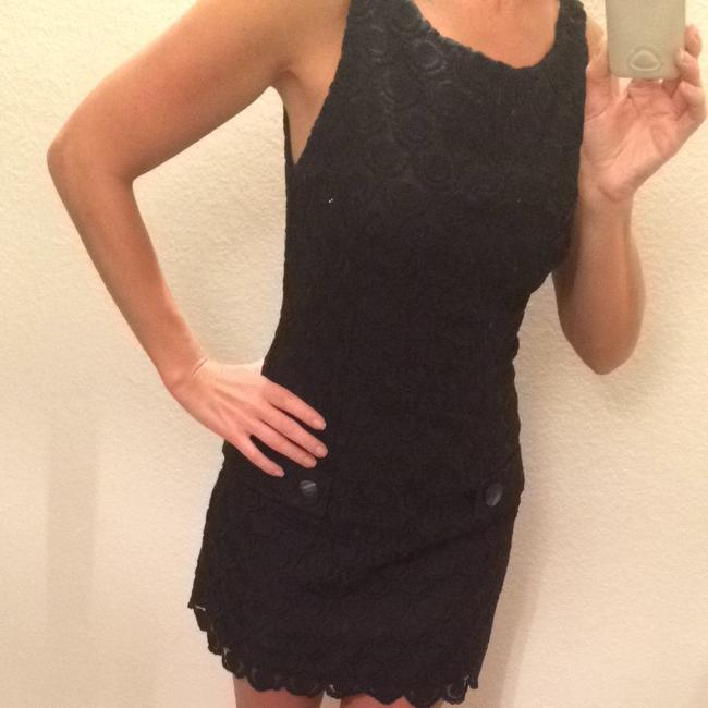 bebe short dress Black Newyears Lace Mini Short Lacey Professional Nightout Evening on Tradesy