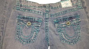 True Religion Designer Usa Boot Cut Jeans-Light Wash