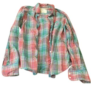 American Eagle Outfitters Button Down Shirt Red and green