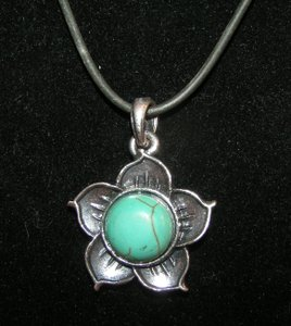 Turquoise Flower Necklace Free Shipping