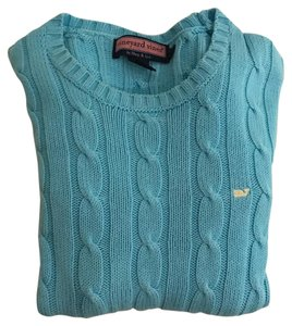 Vineyard Vines Cable Blue Classic Sweater