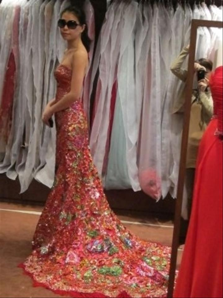 Chinese red wedding dress tradesy for Asian red wedding dresses