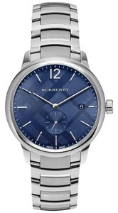 Burberry Burberry Classic Check BU10007 Silver Stainless Blue Dial Watch