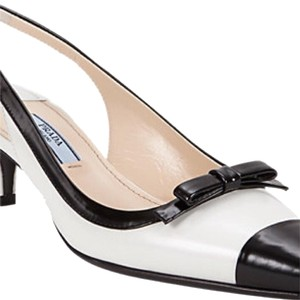 Prada White & Black Pumps