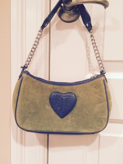 Juicy Couture Wristlet in Green and Navy