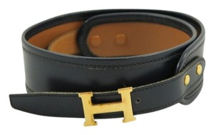 Hermès Hermes Navy Blue Belt