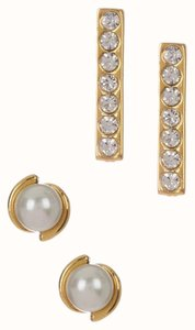 Kate Spade NEW Kate Spade Pearl and Bar Stud Earrings Set, WBRUA564