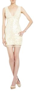 BCBGMAXAZRIA Sequins Chiffon Dress