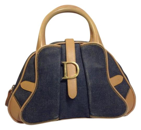 Preload https://img-static.tradesy.com/item/15755890/dior-christian-handbag-blue-denim-leather-hobo-bag-0-1-540-540.jpg