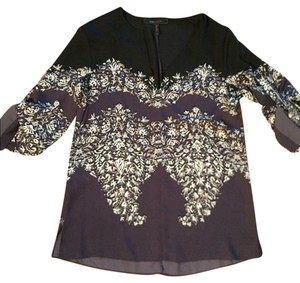 BCBGMAXAZRIA Bcbg Black Blue Top