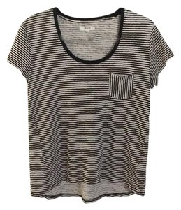 Madewell T Shirt Black & cream stripe