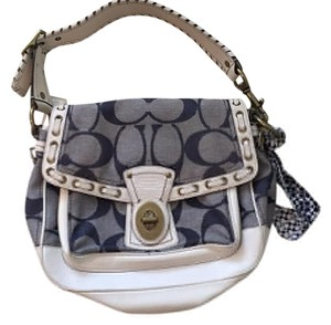 Coach Satchel in White And Blue