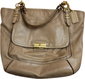 Coach Tote in metallic light gold