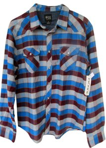 New With Tags Button Down Button Down Shirt blue, grey, burgundy