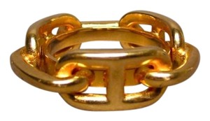 Hermès Hermes Chaine D'ancre Golden Tone Scarf Ring