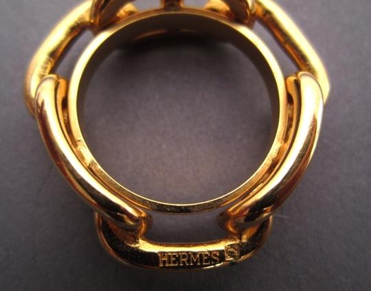 Hermès Hermes Chaine D'ancre Golden Tone Scarf Ring Image 1