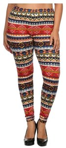 ShoSho Plus Size Plus-size Multi-Color Leggings