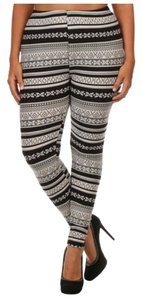 Depot Plus Size Plus Size Pants Black, White, Gray Leggings