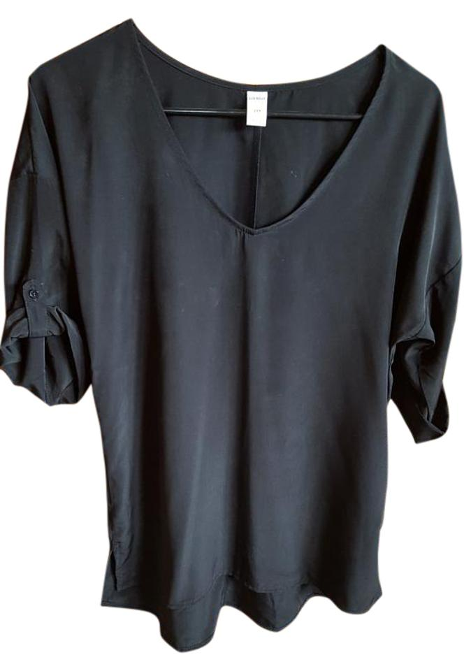 f76b987fcaaca5 Old Navy Black . Blouse Size 6 (S) - Tradesy