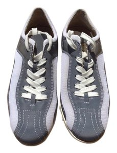 Donald J. Pliner Silver Silvery and White Athletic