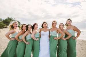 Alfred Angelo Green Dress