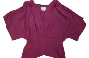 Anthropologie Silk Holiday Date Night Top Deep purple Eggplant