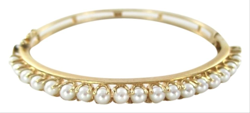 white il au bangle simple bangles bracelet pearl gold listing