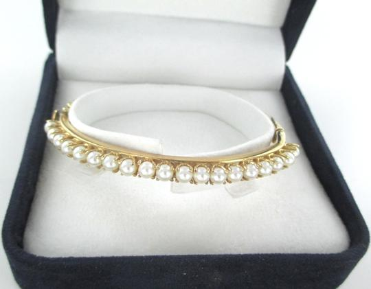 Other 14KT SOLID YELLOW GOLD BANGLE PEARL BANGLE 16 GRAMS FINE JEWELRY BRACELET DESIGN