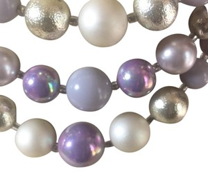 Creativedesignsbyappealinglady Sold Lavender And Silver Glass Beaded Necklace Sold